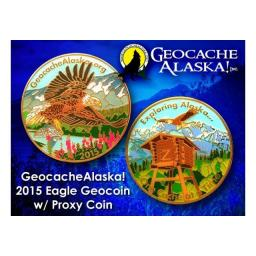 Geocache Alaska - Eagle Geocoin (Coin & Proxy Set)