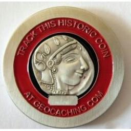 Tetradrachme of Athens Historic Geocoin