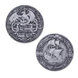 Pirate's Day Geocoin- Antique Silver