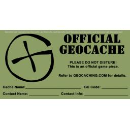 Generic 'G' Geocache Label / sticker (4 sizes)