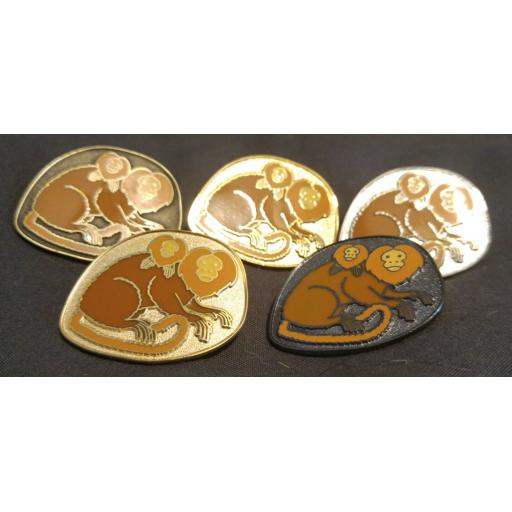 Golden Lion Tamarin Pin Badge
