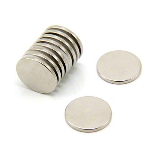 15mm x 1mm N35 disk self adhesive magnets - pair