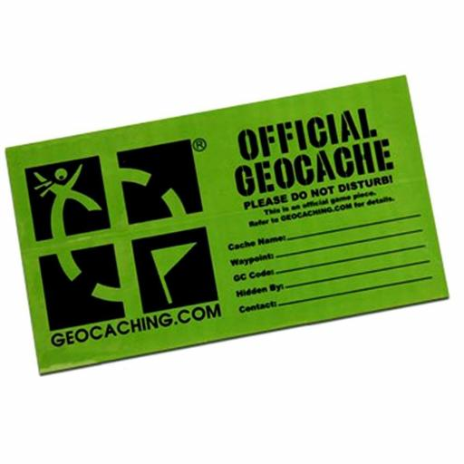 Groundspeak Geocache Label / Sticker