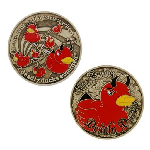 The Seven Deadly Ducks Geocoin (LE)