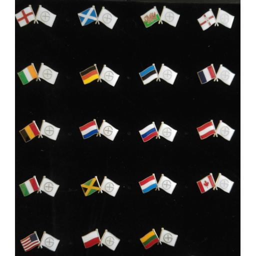 National Geocaching Flag Pin Badges