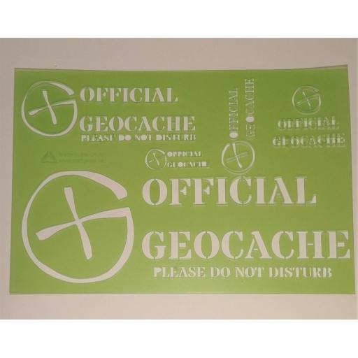 Official Geocache Stencil
