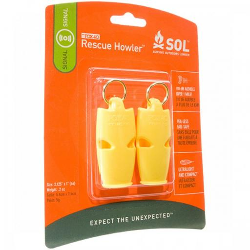 Survive Outdoors Longer® Rescue Howler Whistle, 2/Pack
