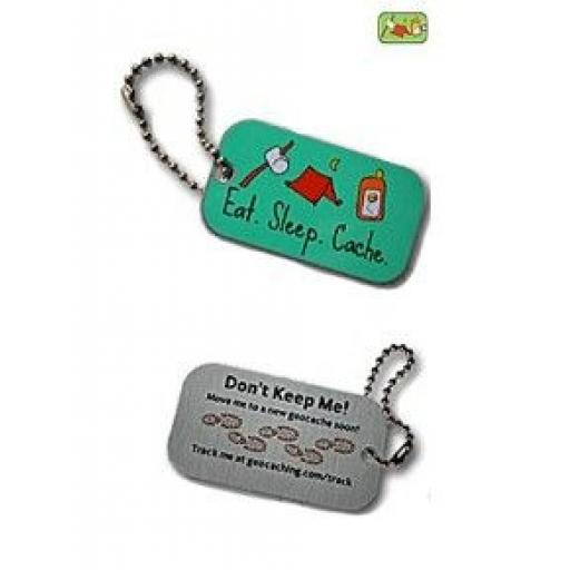 Eat, Sleep, Cache Travel Tag