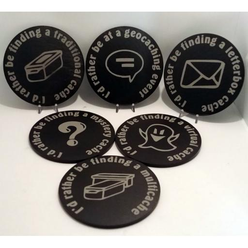 Geocaching Slate Coasters