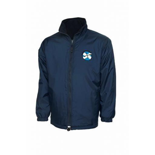 Scottish Geocachers Embroidered Mens Reversible Fleece Jacket